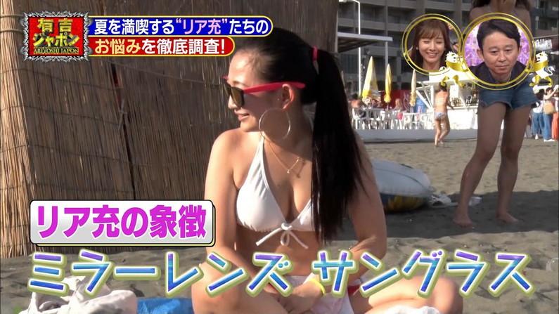 【水着キャプ画像】テレビで明らかに水着の面積の割合がおかしくてオッパイはみ出しまくりの美女が映ってるw 15