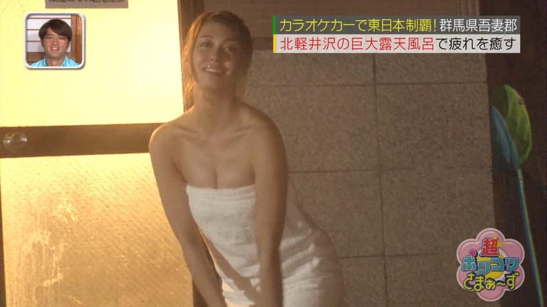 【温泉キャプ画像】美女の裸体まで後バスタオル一枚!これさえ取れればwww