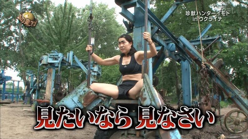 【マン筋キャプ画像】テレビでマンコの割れ目がくっきり分かっちゃったww 04