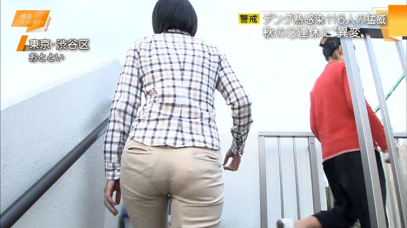 【お尻キャプ画像】女子アナやアイドル達がぴったりパンツ履いてパンツライン見せびらかしてるw 23