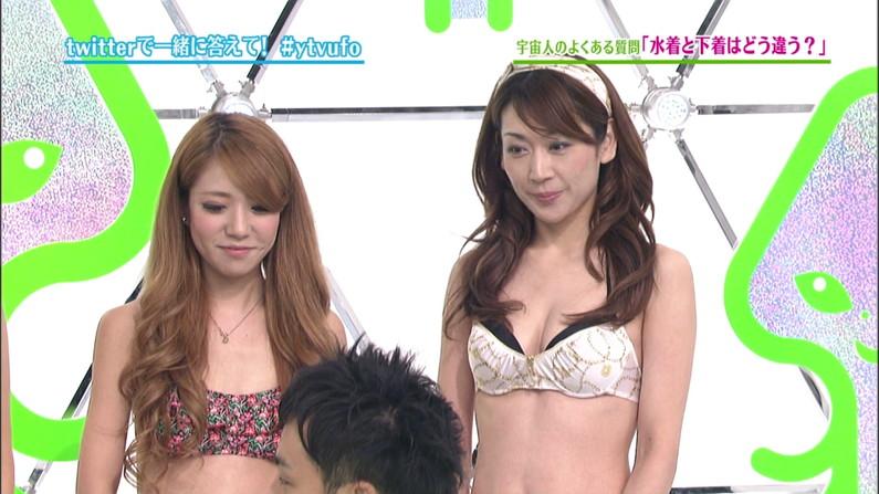【下着キャプ画像】ブラ姿でテレビに映る下着モデルの女性ってなんかエロいよなww 10