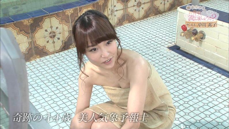 【温泉キャプ画像】それにしても温泉レポする女性タレント達ってオッパイ見せ過ぎじゃね?ww