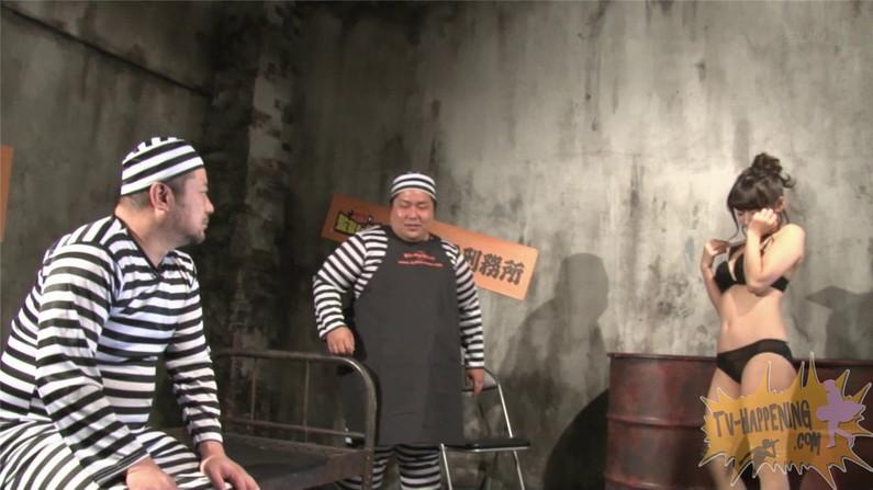 【お宝エロ画像】バコバコTVに出てくるTバックのお尻と巨乳オッパイがエロくてケンコバ羨ましすぎww 43