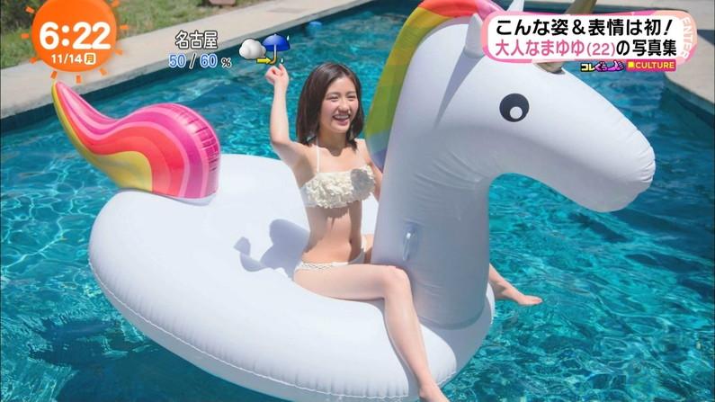 【オッパイキャプ画像】圧巻!やっぱ巨乳アイドルの水着姿はエロすぎたww 05