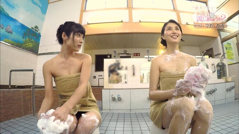 【温泉キャプ画像】色々やばい物が映りそうで毎回ドキドキする橋本マナミのお背中流しましょうか?w 04