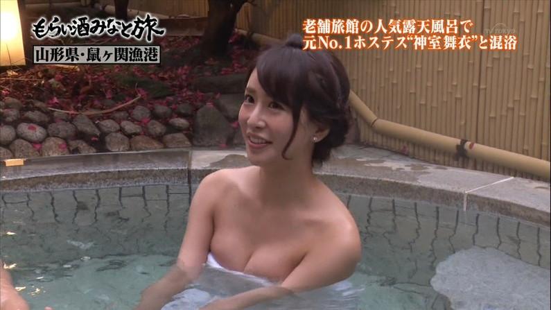 【温泉キャプ画像】色々やばい物が映りそうで毎回ドキドキする橋本マナミのお背中流しましょうか?w 09